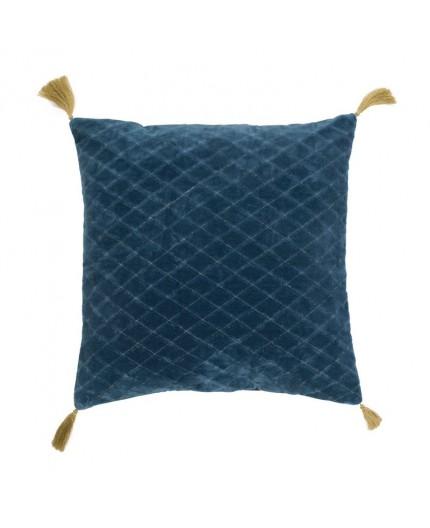 Coussin Velours Bleu