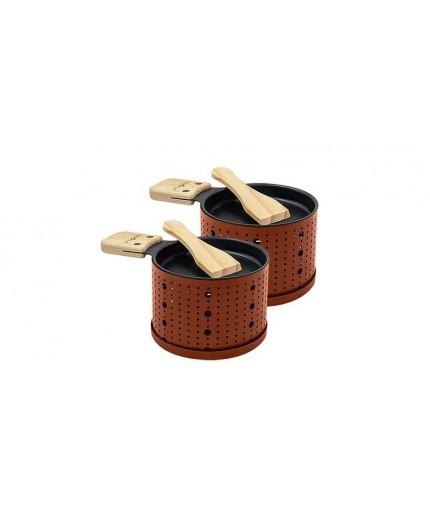 Appareil à raclette à la bougie pour 2 personnes terracotta