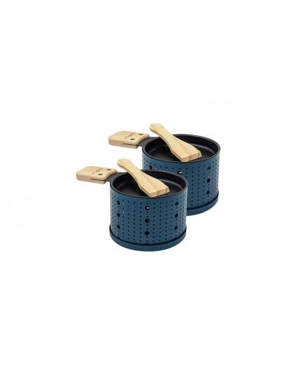 Appareil à raclette à la bougie pour 2 personnes bleu