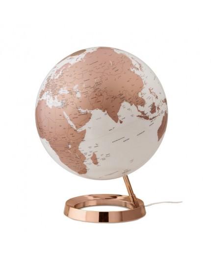 Globe Terrestre Lumineux Metal Copper