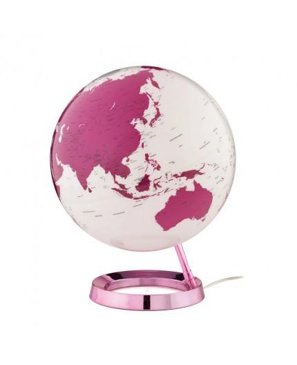 Globe Terrestre Lumineux Pink
