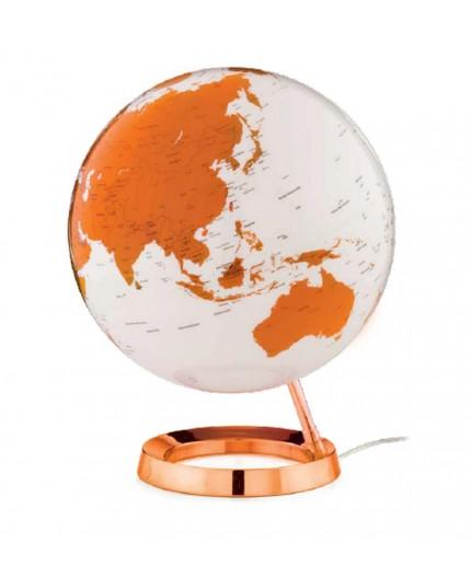 Globe Terrestre Lumineux Orange