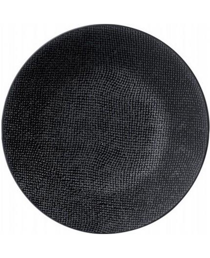 Assiette Plate Vesuvio Noir